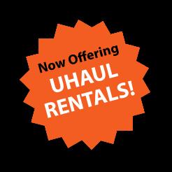 Now offering U-Haul rentals